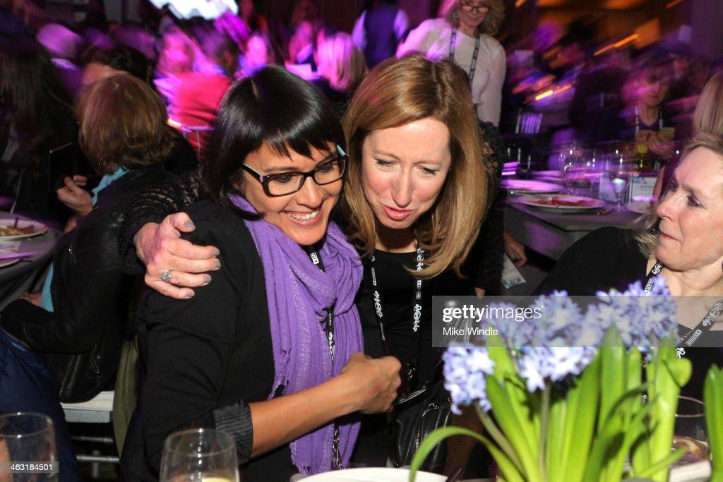 Sydney Freeland and Executive Director Sundance Institute Keri Putnam attend An Artist at the Table: Dinner Program during the 2014 Sundance Film Festival at Stein Eriksen Lodge on January 16, 2014 in Park City, Utah.