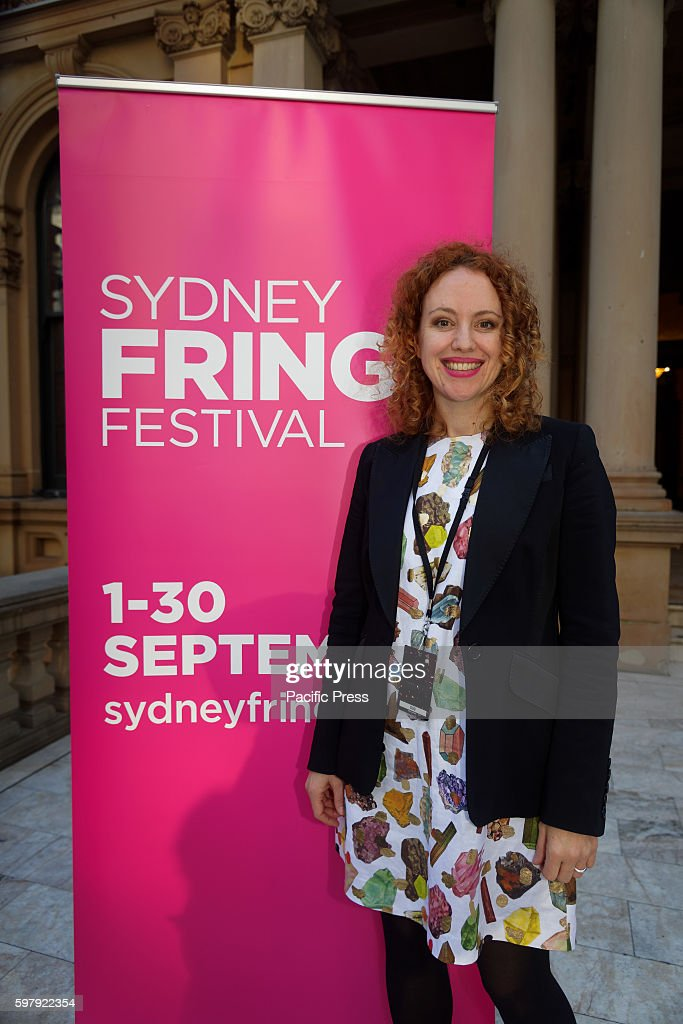 Sydney Fringe Festival Director Kerri Glasscock poses for photographs at the launch as Sydneys Town Hall is turned pink The Sydney Fringe is an...
