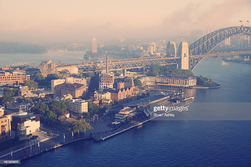 Sydney harbour and bridge