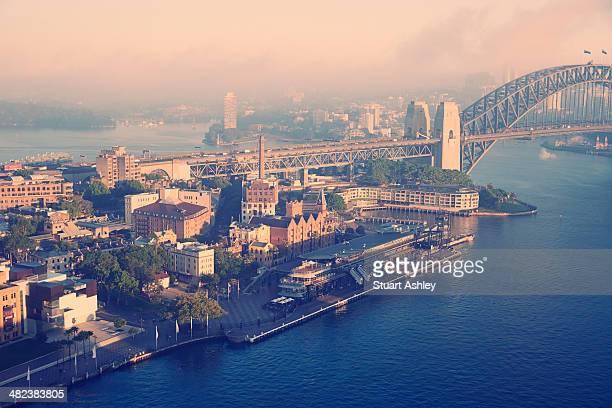 Sydney harbour and bridge