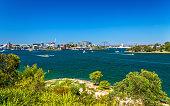 Sydney Harbour as seen from Barangaroo Reserve Park - Australia