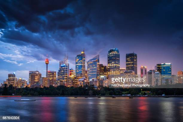 Sydney Harbour Australia aerial