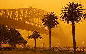Sydney Harbour Bridge during Sept 2009 dust storm