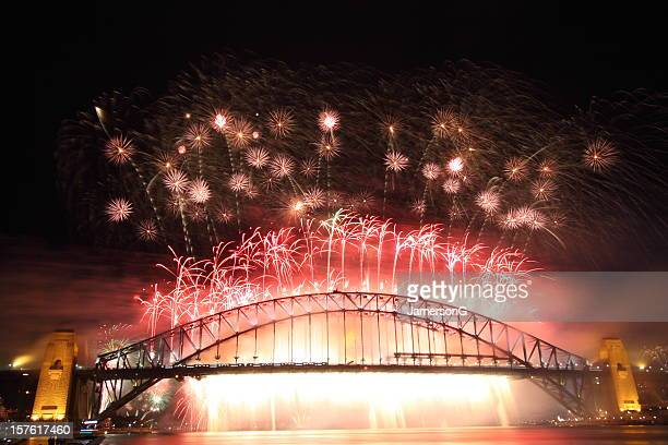 Sydney Harbour Bridge Fireworks - New Year 2010