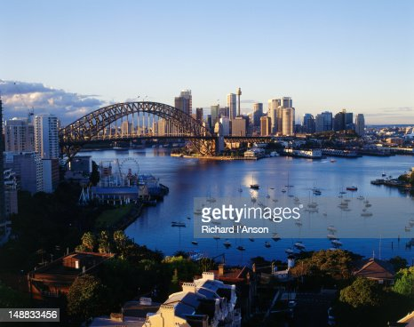 Sydney Harbour Bridge in the early morning light.