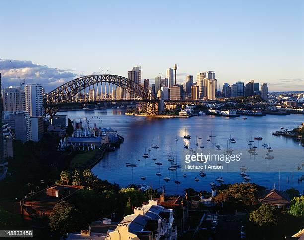 Sydney Harbour Bridge in the early morning light.