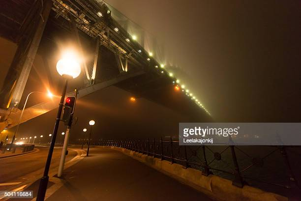 Sydney Harbour bridge in the mist.