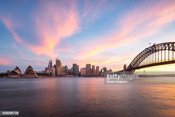 Sydney Harbour evening time.