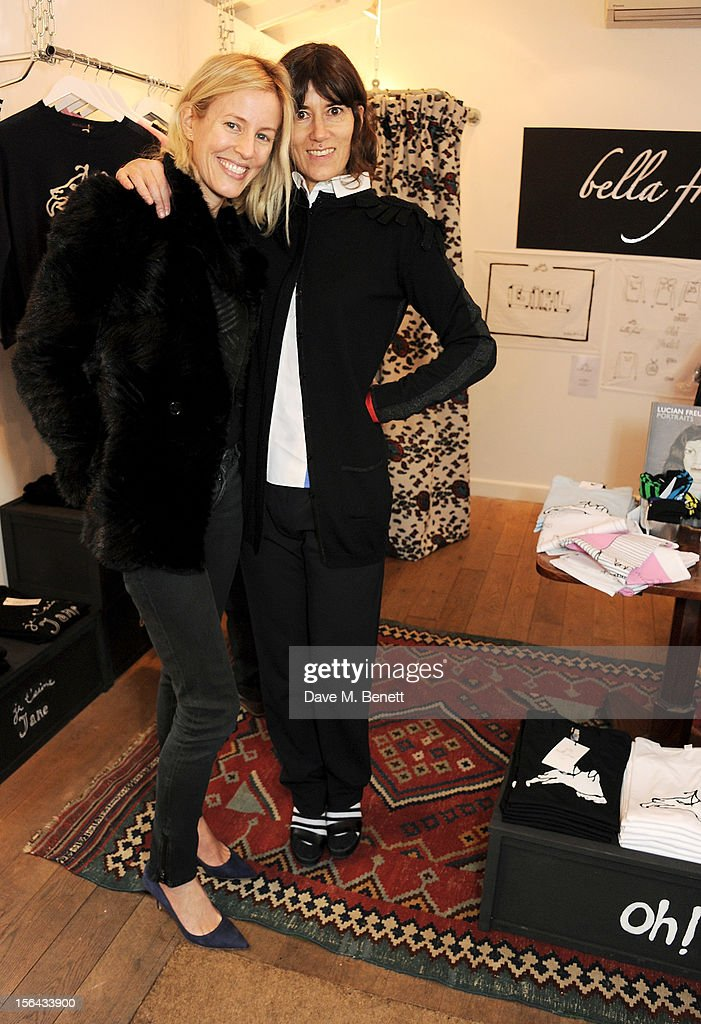 Sydney Ingle-Finch (L) and Bella Freud attend the launch of the Bella Freud pop-up boutique at Bicester Village on November 15, 2012 in Bicester, England.
