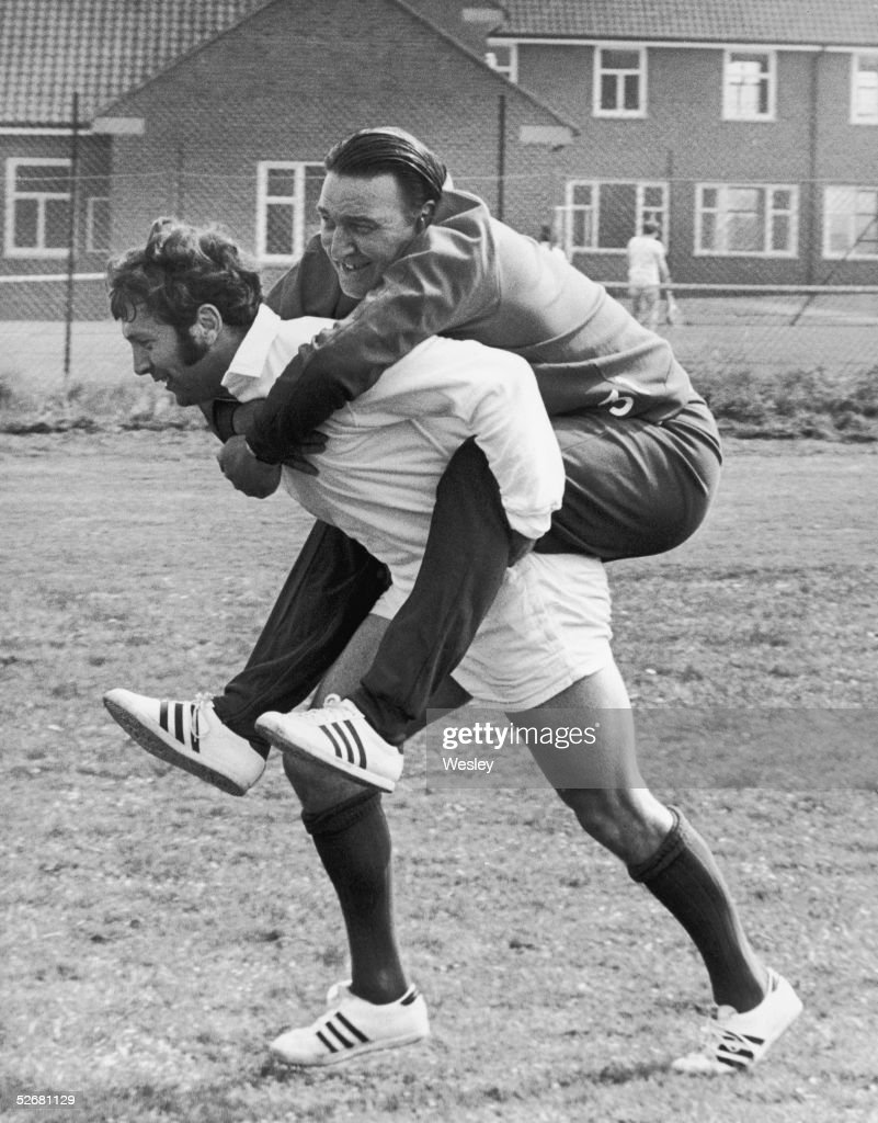 Sydney John Dawes captain of the British Lions team carries manager 'Doc' Doug Smith during a training session at Eastbourne 6th May 1971 The next...