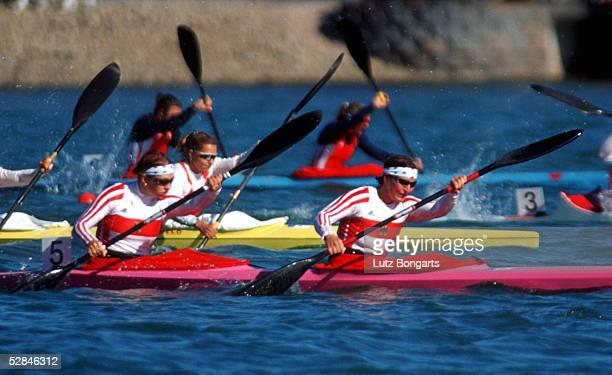 SPIELE 2000 Sydney KANURENNSPORT/KAJAK/K2/500m/FRAUEN vlnr Katrin WAGNER Birgit FISCHER/GER GOLD