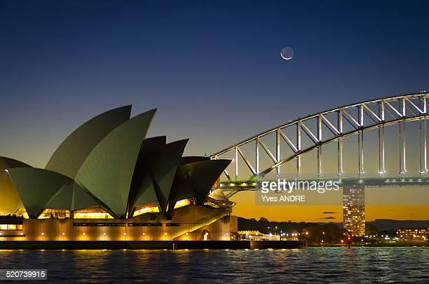 Sydney landmarks at sunset