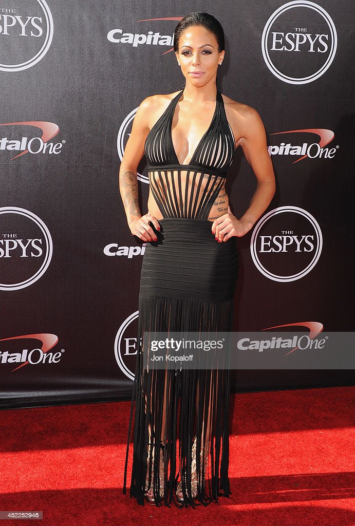 Sydney Leroux arrives at the 2014 ESPYS at Nokia Theatre L.A. Live on July 16, 2014 in Los Angeles, California.