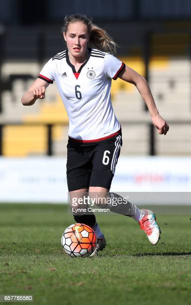 Sydney Lohmann of Germany during the Germany v Italy U17 Girl's Elite Round at Keys Park on March 25 2017 in Cannock England