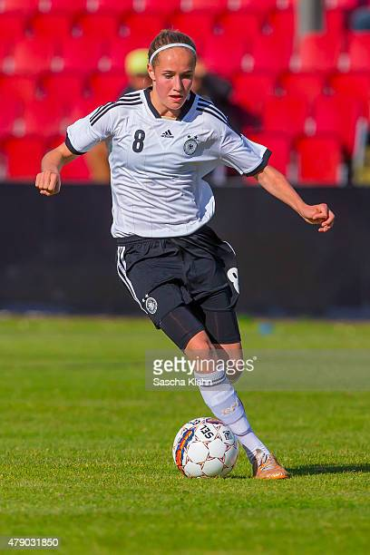 Sydney Lohmann of Germany during the Girl's Nordic Cup between U16 Germany and U16 Norway at Norre Aaby Stadium on June 29 2015 in Norre Aaby Denmark