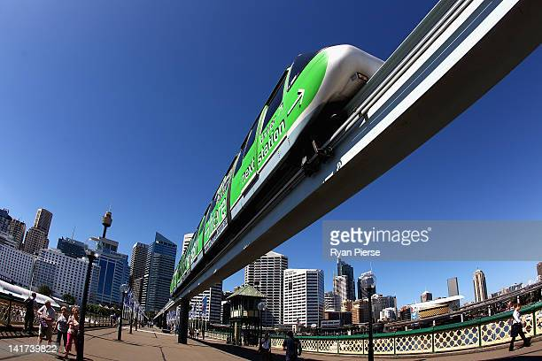 Sydney Monorail is seen at Darling Harbour on March 23 2012 in Sydney Australia The Sydney monorail will be pulled down and a light rail will be...