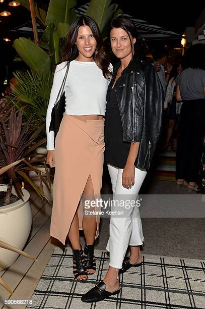 Sydney Munteanu and guest attend LOFT and Yes Way Rose Celebrate Summer In LA at Mama Shelter on August 16 2016 in Los Angeles California