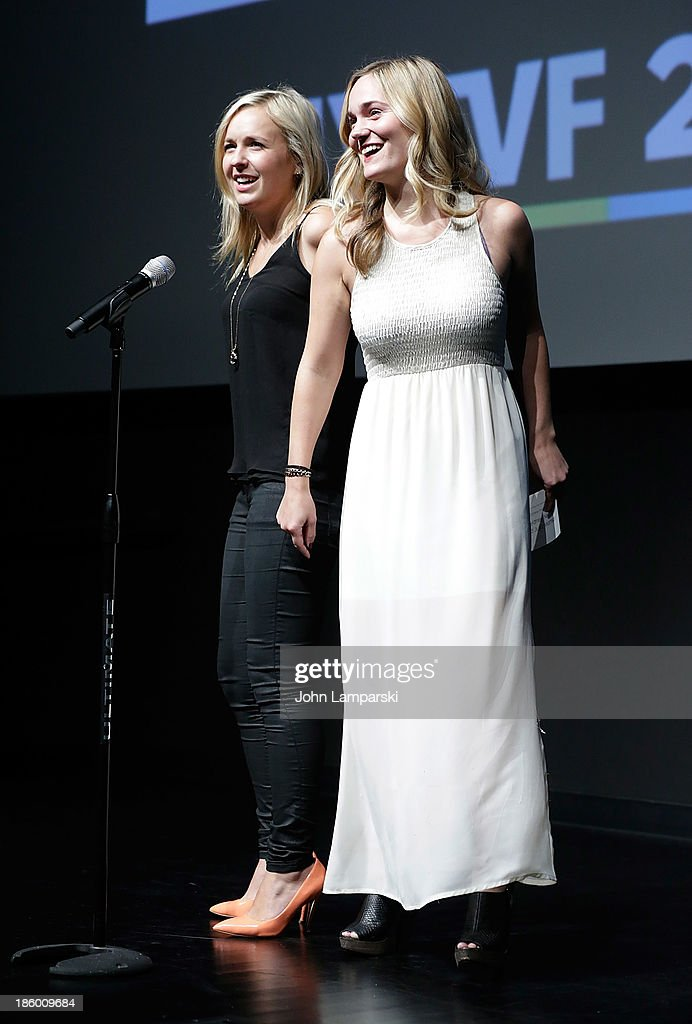 Sydney Nikols and Julia Matison accept the MTV Comedy Developement Deal Award at the 9th Annual New York Television Festival - Awards Ceremony at SVA Theater on October 26, 2013 in New York City.