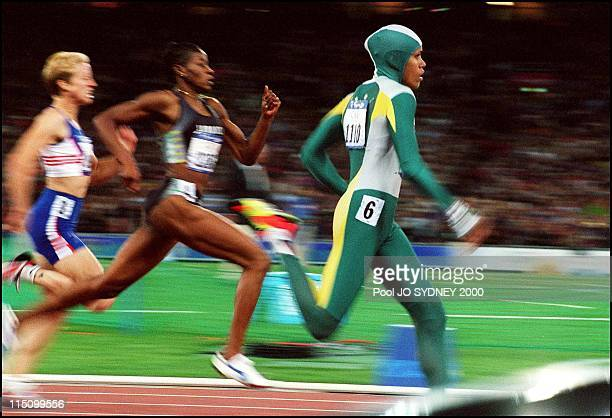 Sydney Olympics Athletics Cathy Freeman wins women's 400 meters final in Sydney Australia on September 25 2000