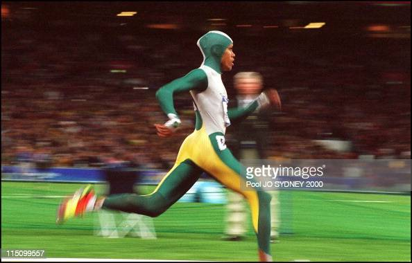 Sydney Olympics Athletics Cathy Freeman wins women's 400 meters final in Sydney Australia on September 25 2000