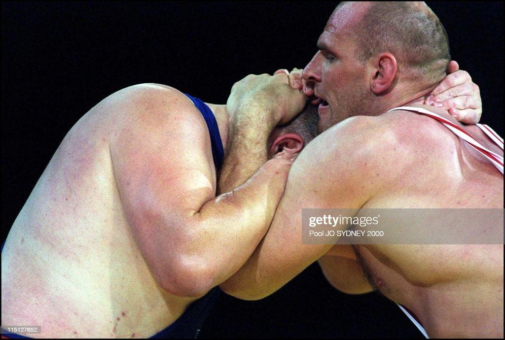 Sydney Olympics Greco roman wrestling in Sydney Australia on September 27 2000 97 to 130 kg Rulon Gardner gold medal Alexandre Kareline