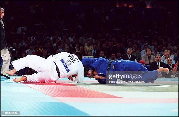 Sydney Olympics Men's judo over 100 kgs final in Sydney Australia on September 22 2000 David douillet Shinichi Shinohara