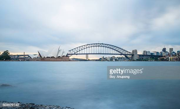 Sydney opera house and the Harbour bridge.
