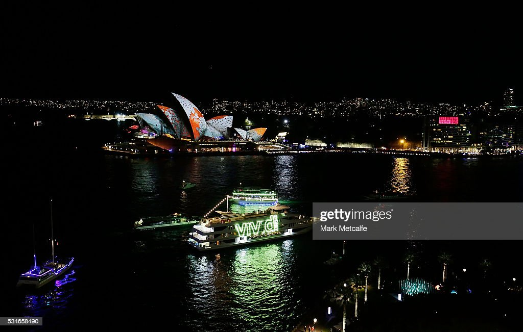 Sydney Opera House sails light up as part of Vivid Sydney on May 27, 2016 in Sydney, Australia. Vivid Sydney is an annual festival that features light sculptures and installations throughout the city. The festival takes place May 27 through June 18.