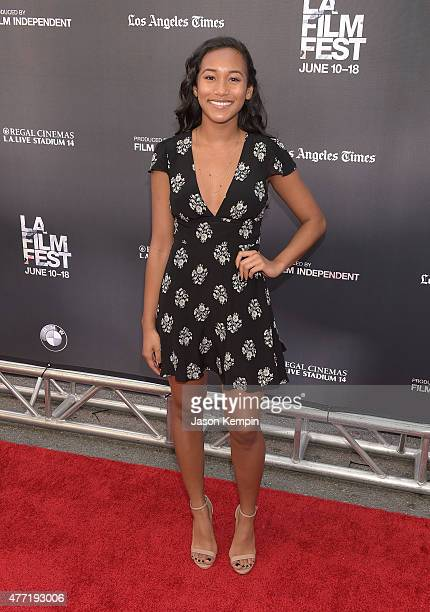 Sydney Park attends the premiere of MTV And Dimension TV's 'Scream' at Regal Cinemas LA Live on June 14 2015 in Los Angeles California