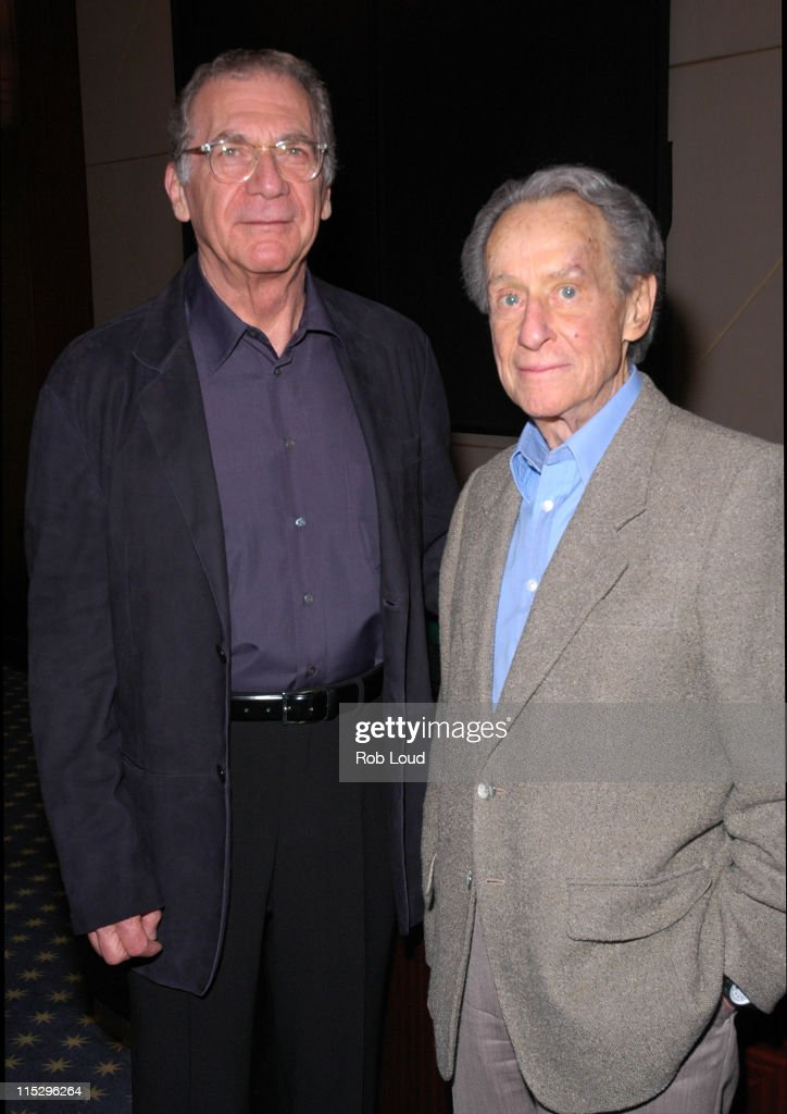 Sydney Pollack and Arthur Penn during 5th Annual Tribeca Film Festival 'The Sketches of Frank Gehry' Premiere at MGM Screening Room in New York City...