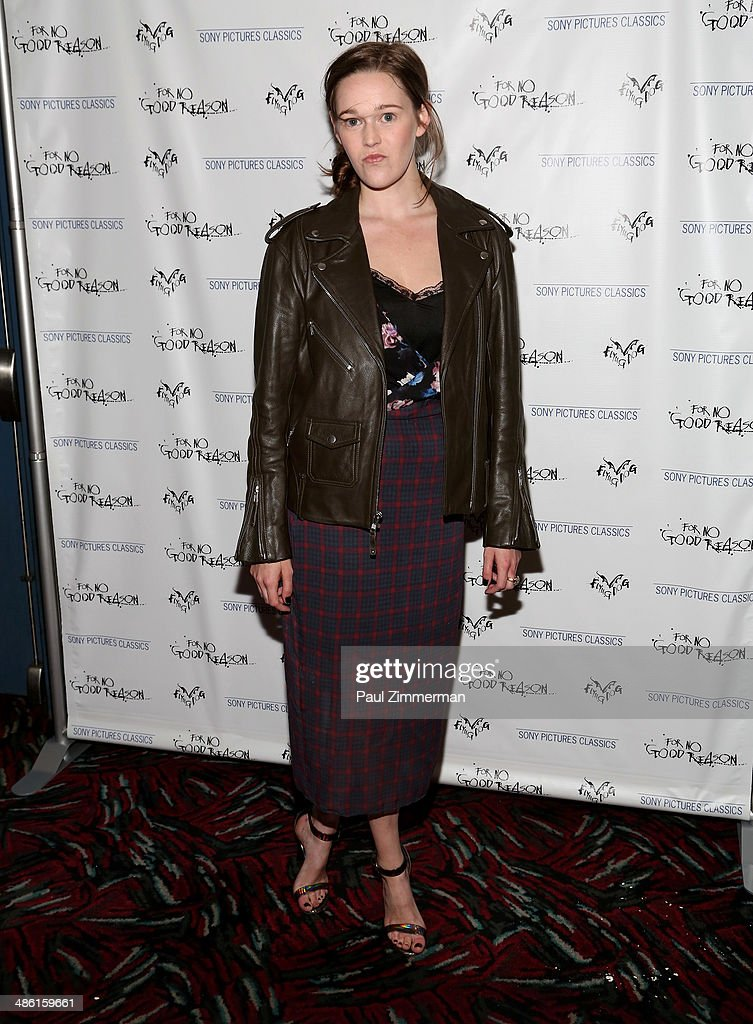 Sydney Reising attends the 'For No Good Reason' screening at AMC Loews 19th Street Theater on April 22, 2014 in New York City.