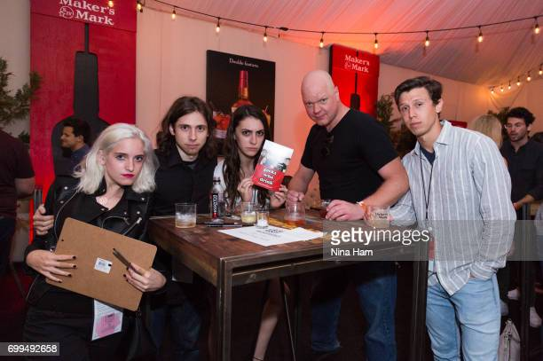Sydney Richman Aaron Klapwald Taylor Shannon Damon Houx and Chance Carnahan attend Geeks Who Drink Trivia Night during the 2017 Los Angeles Film...