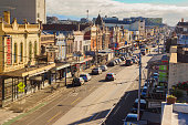 Sydney Road, the main thoroughfare of the suburb of Brunswick, Melbourne.