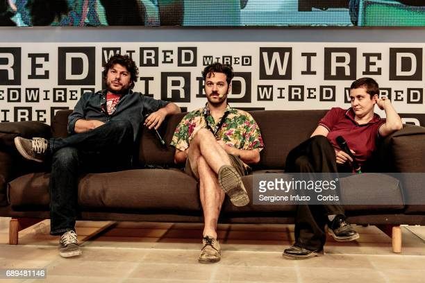 Sydney Sibilia Luigi Di Capua and Francesca Manieri attend Wired Next Fest 2017 at Giardini Indro Montanelli on May 28 2017 in Milan Italy