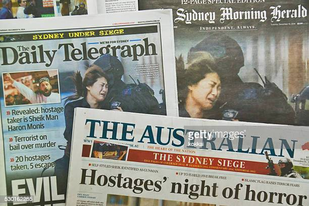Sydney Siege: Newspapers