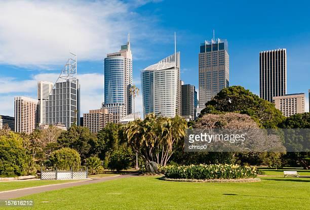 Sydney Skyline and Royal Botanic Gardens