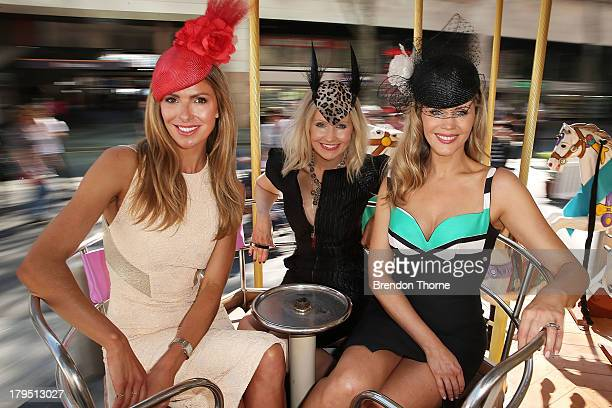 Sydney Spring Carnival ambassadors Laura Csortan Nerida Winter and Sophie Faulkner pose at the Australian Turf Club Spring Launch at Customs House...
