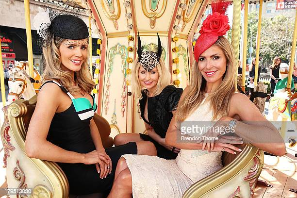 Sydney Spring Carnival ambassadors Sophie Faulkner Nerida Winter and Laura Csortan pose at the Australian Turf Club Spring Launch at Customs House...