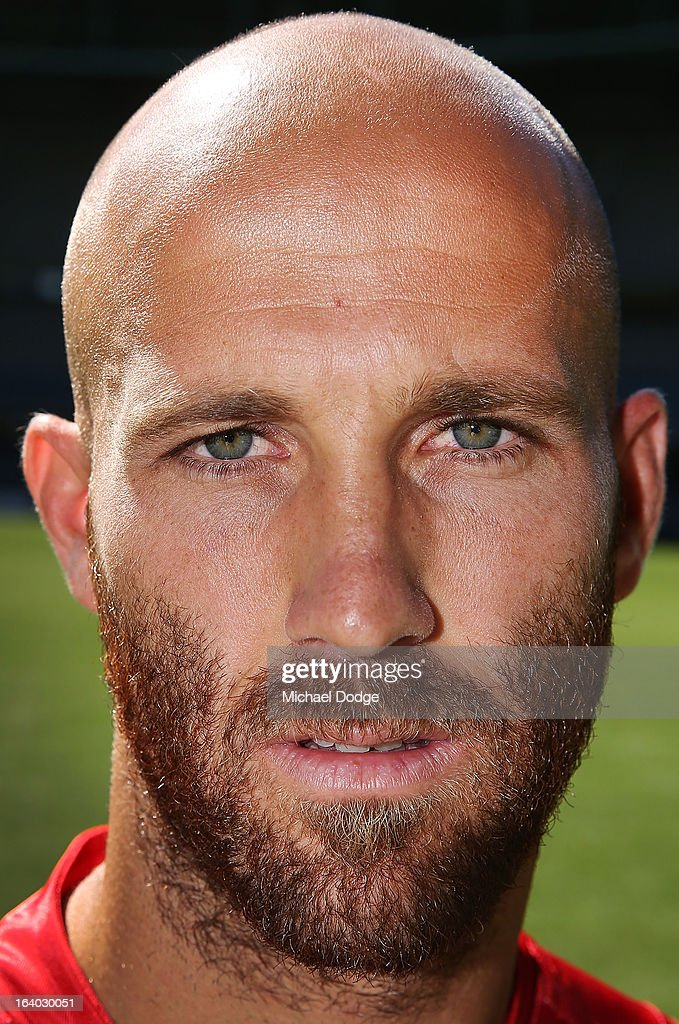 Sydney Swans captain Jarrad McVeigh poses during the AFL Captains media Day at Etihad Stadium on March 19, 2013 in Melbourne, Australia.