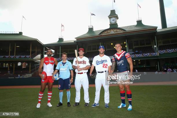 Sydney Swans player Adam Goodes Sydney FC player Alessandro del Piero Paul Goldschmidt of the Arizona Diamondbacks Clayton Kershaw of the Los Angeles...