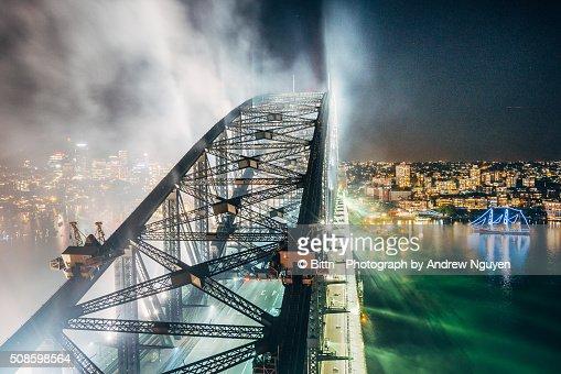 Sydney - Sydney Harbour Bridge : Foto de stock