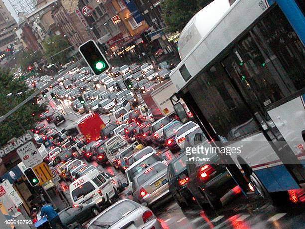 Sydney traffic jam during rush hour