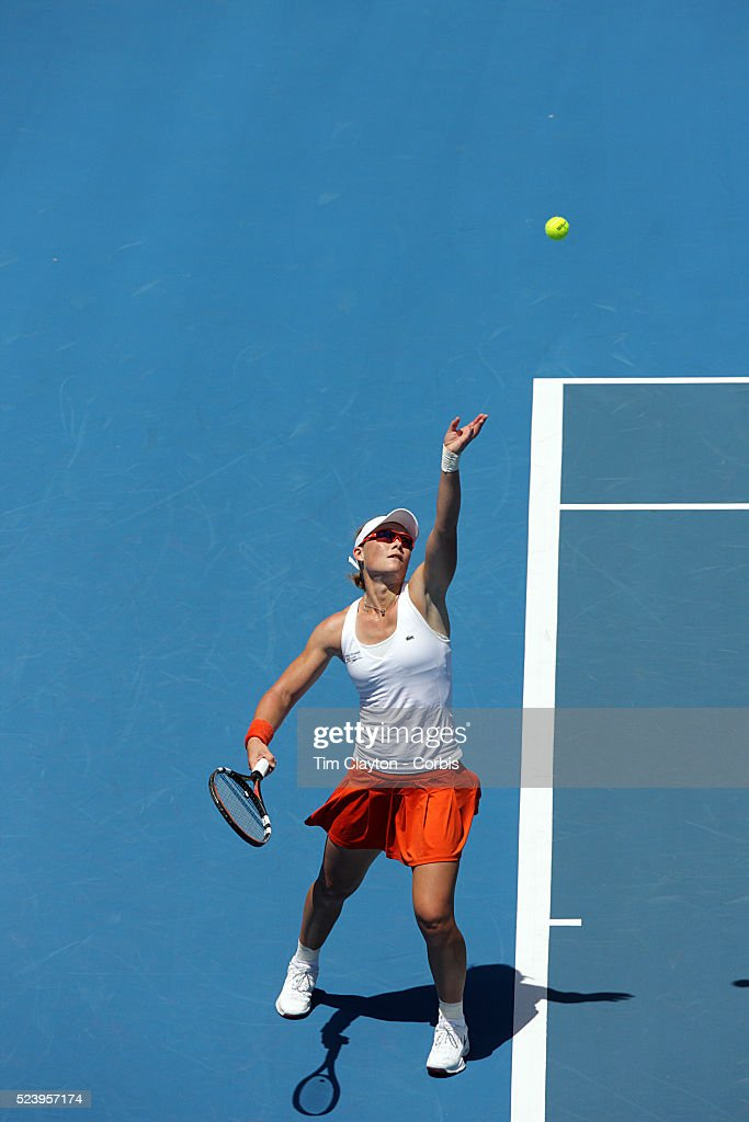 Samantha Stosur of Australia during her loss to Serena Williams 63 67 75 in the first round of the Medibank International Sydney Tennis Tournament on...