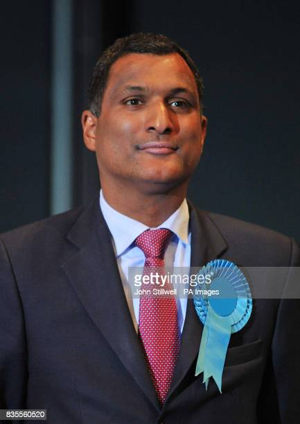 Syed Salah Kamall of the Conservative Party who has been elected to the European Parliament at City Hall in central London