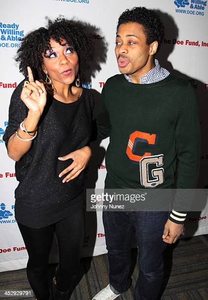 Syesha Mercado and Chester Gregory attend Gospel Uptown on December 7 2009 in New York City
