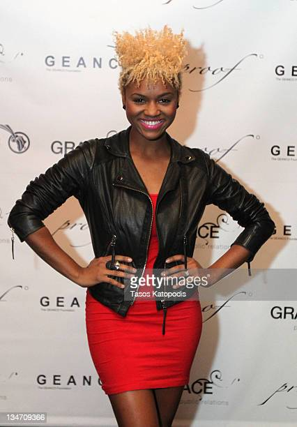 Syesha Mercado attends the Health and Hope for Africa kickoff party at Proof Night Club on December 2 2011 in Chicago Illinois