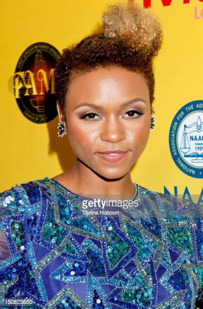 Syesha Mercado attends TV Land and First AME Church screening of 'The Soul Man' at First AME Church on August 26 2012 in Los Angeles California