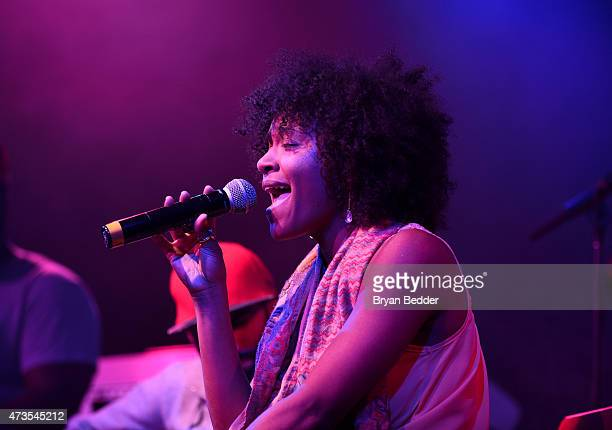 Syesha Mercado speaks as Verizon Celebrates Consumers With 'The Big Payoff' Featuring A Special Exclusive Performance By Melanie Fiona And Expert...