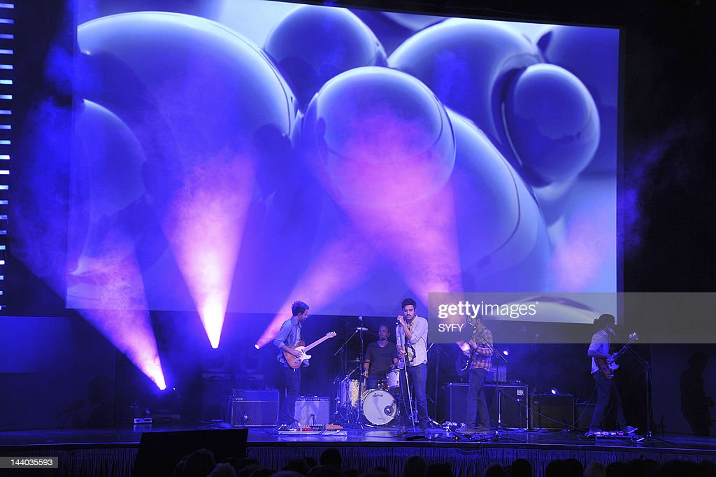 EVENTS -- 'Syfy Upfront 2012 at the American Museum of Natural History in New York City on April 24, 2012' -- Pictured: Young and the Giant perform --