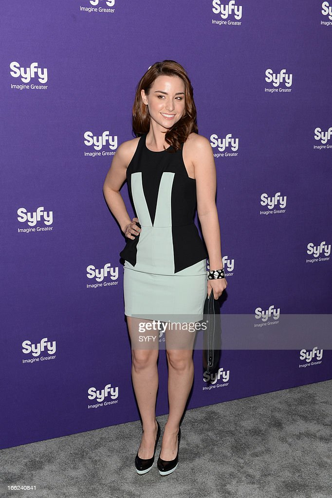 EVENTS -- '2013 Syfy Upfront at Silver Screen Studios in New York City' -- Pictured: Allison Scagliotti --